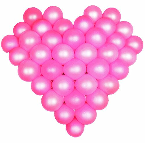 Elecrainbow 5 Inch Pink Balloons, Round Pearl Balloon for Balloon Arch Modeling, Pack of 100