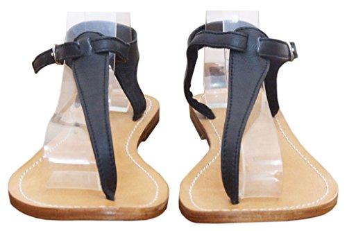 Piel 11sunshop Sandalias de de Otra Mujer Vestir Negro XAqaX
