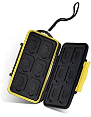 moinkerin SD Memory Card Case Memory Card Case Holder Sd Storage Case for SD Cards, Micro SD Cards,SD SDHC SDXC