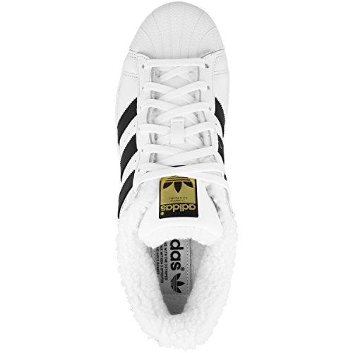 adidas Superstar W, Zapatillas de Deporte Para Mujer Blanco (Ftwbla / Negbas / Dormet)