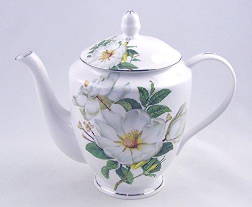 Fine English Bone China 6 Cup Teapot Magnolia Chintz Heath McCabe