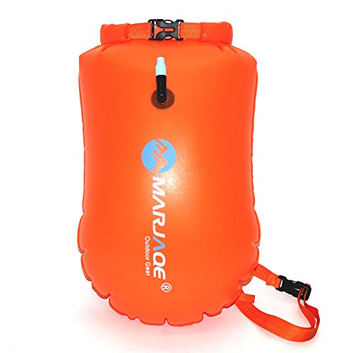 - Agirlgle Swim Buoy, Swim Bubble for Open Water Swimmers and Triathletes, 20L Storage Swimming Life-Saving Dry Drift Bag for Kayakers, Highly Visible Buoy Float for Safe Swim Training (Orange)