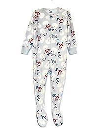 Boys 3T Light Blue Snowman Fleece Footed Blanket Pajama Sleeper