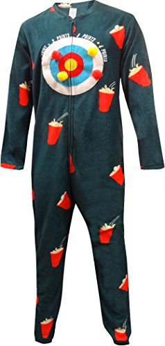 Bioworld Human Dart Board One Piece Union Suit Pajama for Men (Large) (Mens Union Suit One Piece)