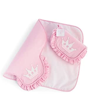 Baby Little Princess Pink Gingham Diaper Changing Mat, Crown (Discontinued by Manufacturer)