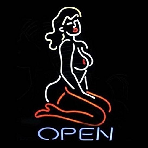 Live Lady Nude Open Neon Sign 24''X20'' Inches Bright Neon Light Display Mancave Beer Bar Pub Garage New by bright field