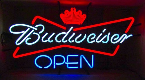 Desung New 20''x16'' Budweisers Open Business Neon Sign (Multiple Sizes Available) Man Cave Signs Sports Bar Pub Beer Neon Lights Lamp Glass Neon Light CX204