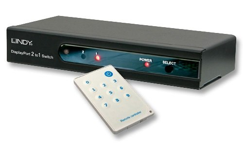 Lindy 2 Port Display Port Switch with Remote Control (38410) by LINDY