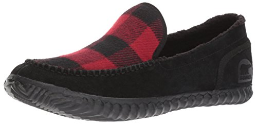 Men's Dahlia Black Dahlia Sorel Black Red Moc D US 9 Red Slipper Dude dYY7qa