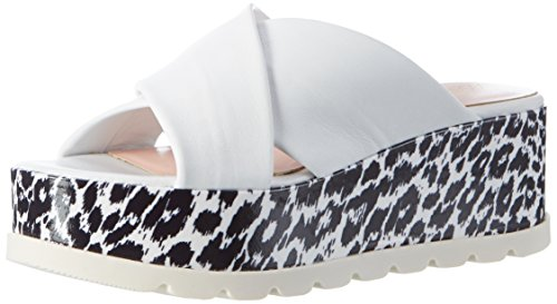 Marc Cain Gb Sq.02 L42 - Mules Mujer Weiß (White And Black)