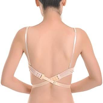 Closecret Women's Adjustable Low Back Bra Converter Straps 2 Hooks(Pack of 3)