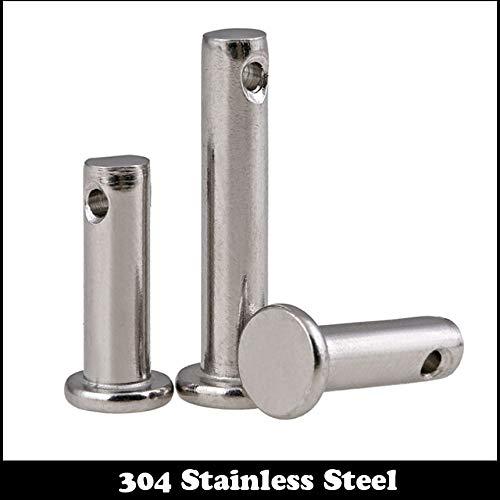Ochoos M10 M080 M10x80 M10100 M10x100 304 Stainless Steel 304ss DIN1444 Flat Head Cylinder Round Dowel Hole Clevis Pin with Head - (Diameter: 2Pcs M10x80)