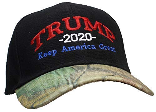 732441eccb495 Tropic Hats Adult Embroidered Trump 2020 Keep America Great Campaign Cap -  Black W Camo