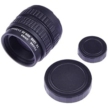 "Neewer 35mm f1.7 2/3"" CCTV Movie Lens, fits Sony NEX cameras with C-NEX adapter and MFT M4/3 Olympus Pen and Panasonic Lumix cameras with C-M4/3 adapter"