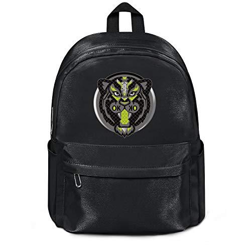 Tigers College Logo Mug - Black Green Tiger Head Logo Bag Purse Fashion Nylon Lightweight School Backpack College Bookbag