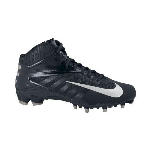 Nike Hommes Vapor Pro Chaussures De Football 3/4 Td Noir / Argent Métallique / Noir