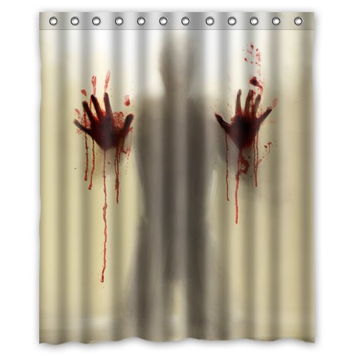 Image gallery scary shower for Psycho shower curtain and bath mat