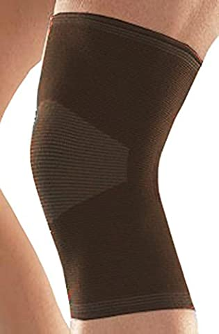 Compression Knee Support Sleeve (BROWN) 1 or 2 Pairs By One & Only USA (1) (Walmart Beactive Brace)