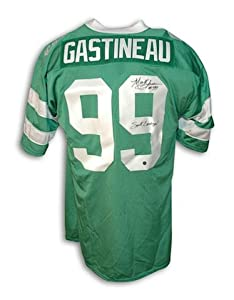 "Autographed Mark Gastineau New York Jets Green Throwback Jersey Inscribed ""Sack Exchange"" -APE COA"