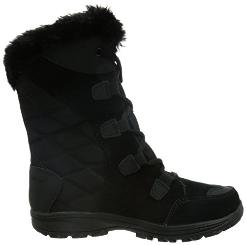 Columbia Women's Ice Maiden Ii Snow Boot, Black, Columbia Grey, 8 B US