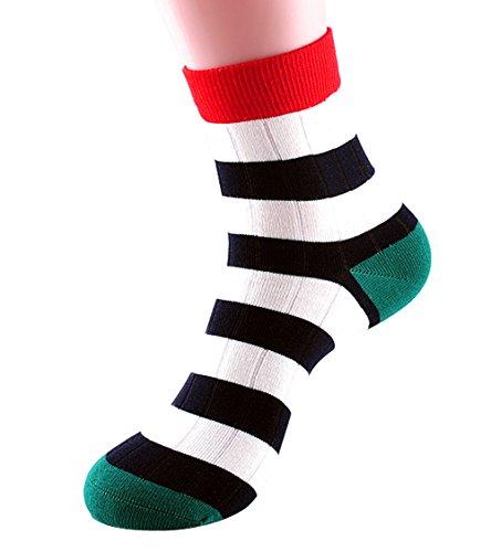 Ezclassy -New Strip Cotton Fashion Style Soft Men Dress Socks H4500 (Color 3)