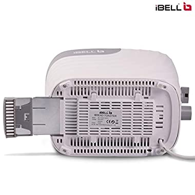 iBELL WG70 700-Watt Premium Pop-up Bread Toaster with Crumb Tray, Mid Cycle Heating Element (White) 14