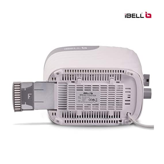 iBELL WG70 700-Watt Premium Pop-up Bread Toaster with Crumb Tray, Mid Cycle Heating Element (White) 7