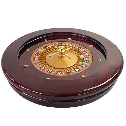 YH Poker 20Inch Deluxe Wooden High Glossy Roulette Wheel ¡ ()