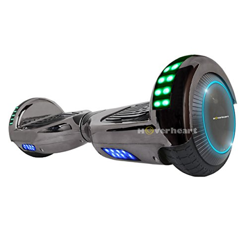 Hoverboard Two-Wheel Self Balancing Electric Scooter UL 2272 Certified, Metallic Chrome with Bluetooth Speaker and LED Light (Chrome Titanium)