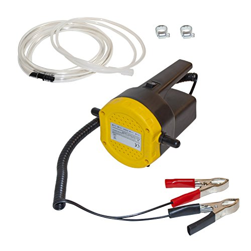 Motor Oil Fuel (ALEKO BST1017B 12V 8A 100W DC Motor Fuel Oil Diesel Extractor Scavenge Suction Transfer Pump with Hose and Handle and ON/OFF Switch)