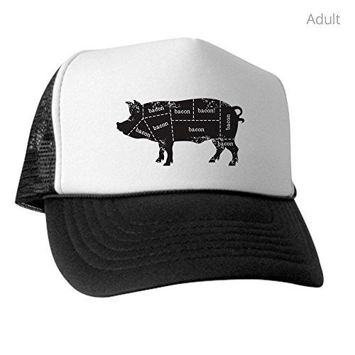 CafePress - Bacon Pig - Trucker Hat, Classic Baseball Hat, Unique Trucker Cap