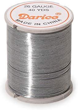 Darice 28-Gauge Beading Wire 40-Yard Silver