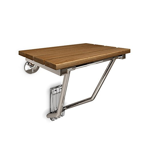 DreamLine Natural Teak Folding Shower Seat, SHST-01-TK by DreamLine