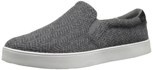Dr. Scholl's Shoes Women's Madison Fashion Sneaker, Grey/Black Herringbone Flannel, 7 M US ()