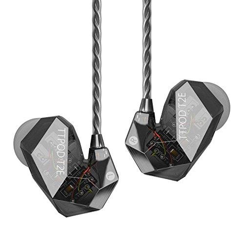 TTPOD T2-E 3Driver Hybrid 2BA+Dynamic Hybrid Drive(ED-29689+TA7801) Headphones Gray