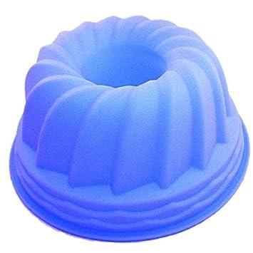 Eurobatt Molde para Molde de Silicona 21 cm en Azul sin engrasar Fácil Hornear Práctico Molde/Molde de Silicona: Amazon.es: Hogar