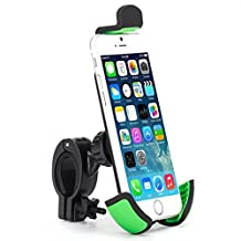 Premium Bicycle Mount Bike Handlebar Phone Holder Dock for Microsoft Nokia Lumia Smartphones - Sony Xperia Z1 Z2 Z3 Z4 Z5 Z3v Z4v - LG G Flex 2, G Stylo, Optimus L9, L90, L70 - HTC 10 ONE M8 M9 A9