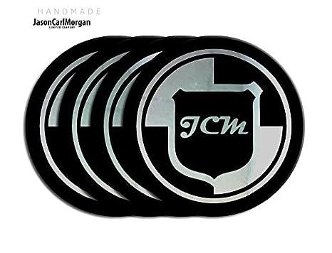 Volkswagen Polo negro y tapa de centro de rueda de aleación de cromo Insignias (CLR