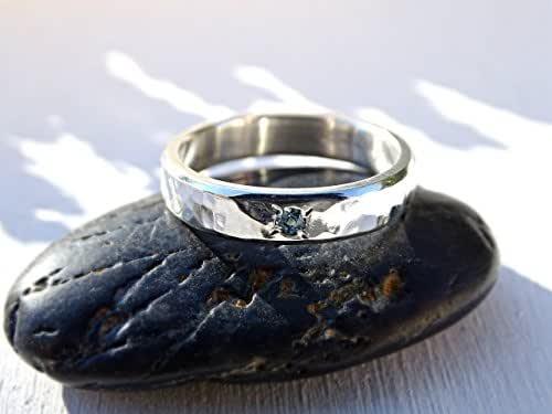 Amazon.com: silver engagement ring, rustic wedding ring