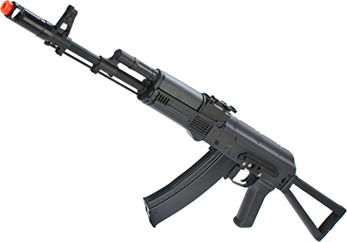Evike - New Version Full Metal CYMA/Kalash AK-74 Airsoft AEG Rifle w/Side Folding Stock
