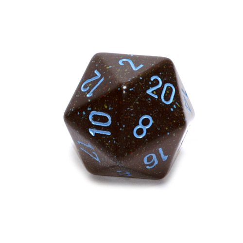 Jumbo d20 Counter - Speckled 34mm Dice: Blue ()
