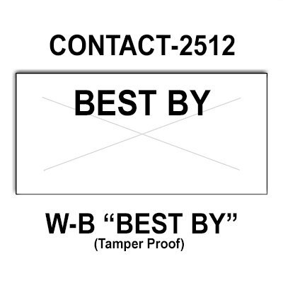 200,000 Contact compatible 2512 ''Best By'' White General Purpose Labels to fit the Contact 25-8, Contact 25-9 Price Guns. Full Case + includes 20 ink rollers. by Infinity Labels