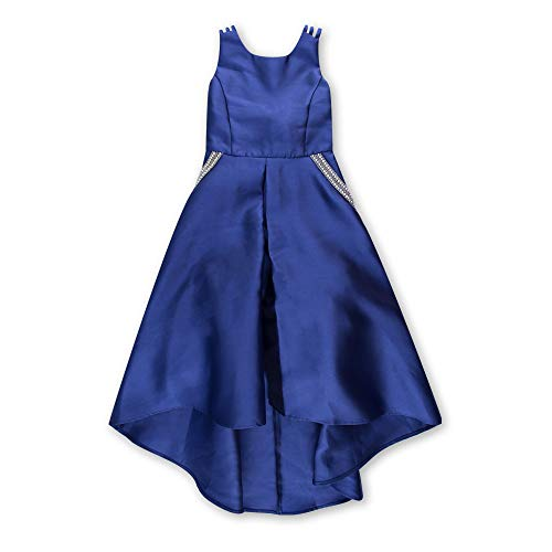 Speechless Girls' Big Sleeveless Taffeta Party Dress with Sparkle Pockets, Cobalt, 16 -