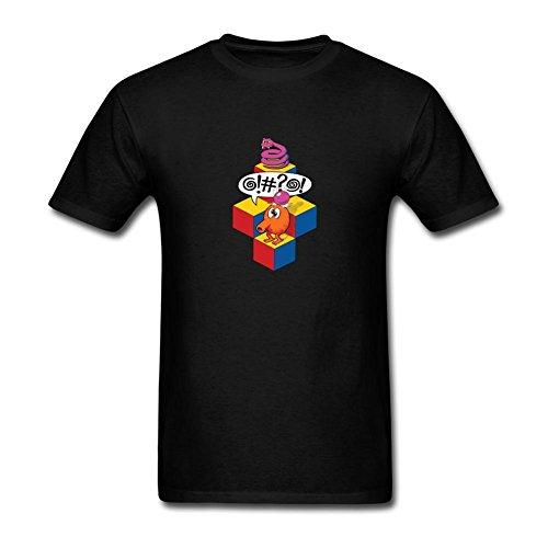 TIANRUNYG Men's Qbert Arcade Video Game Logo Short Sleeves T-Shirt Size XXL ()