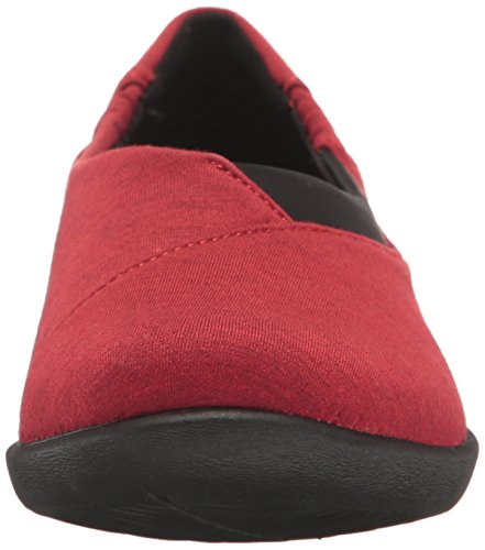 HeatheRojo Mujer 6 Fabric para Rojo Clarks 261123895035 Mocasines Black CqTaF0