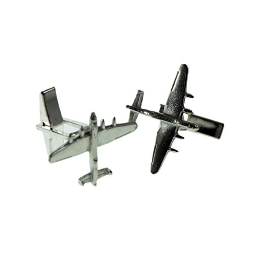 Gtr Men's Cufflinks XDCL003 English Made Lancaster Bomber Aircraft Pewter Cufflinks In Leatherette Box ()