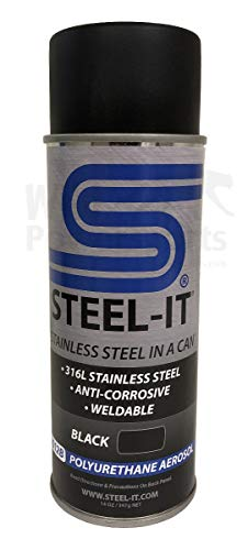 Steel-It Polyurethane 14oz Spray Can (1 can, Black) (Best Paint For Steel)