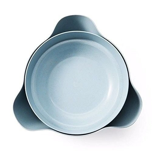Warren Products Blue Pistachio Bowl, Double Dish Snack Bowl, Nut Bowl, Serving Bowl for Fruit, Nuts, Candy, More! (Shell Dish Candy)
