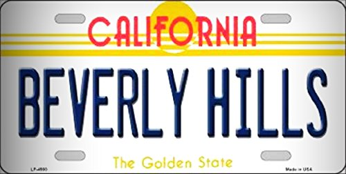 - Beverly Hills California State Background Metal Novelty License Plate for Home/Man Cave Decor by PrettyMerchant