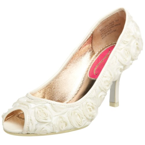Poetic Licence Women's Wedding Date Peep Toe Pump,Ivory,9.5 M US(40.5 EU) (Ivory Leather Peep Toe Pumps)